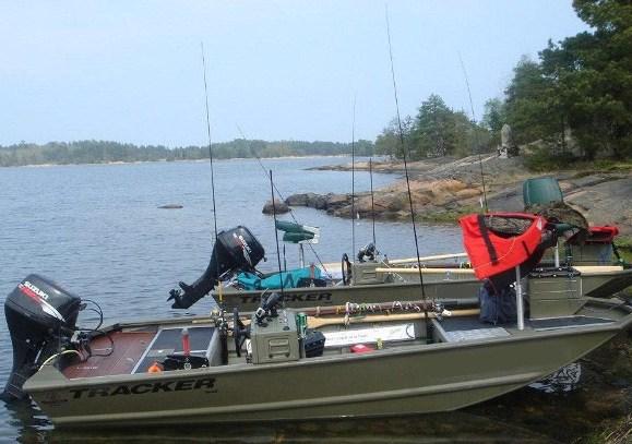 Angelboot kann auch mit Motor
