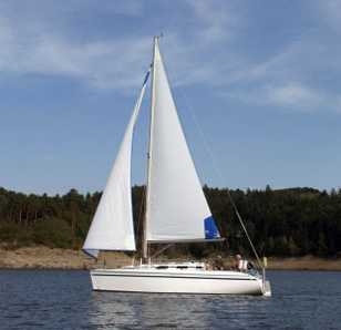 Klassisches Segelboot
